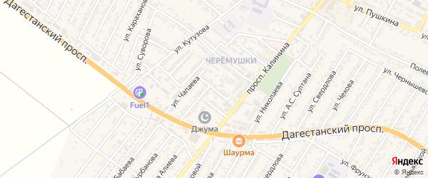 Улица Дружбы на карте Дагестанских огней с номерами домов