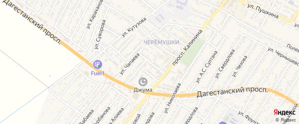 Переулок Дружбы на карте Дагестанских огней с номерами домов