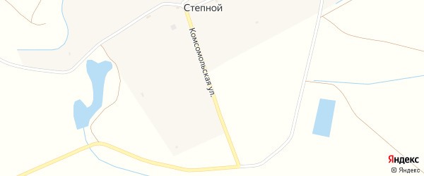 Комсомольская улица на карте Степного поселка с номерами домов