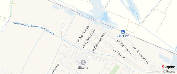 Улица У.Д.Буйнакского на карте Дагестанских огней с номерами домов