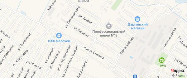 Улица Александрв Ивановича Герцена на карте Дагестанских огней с номерами домов