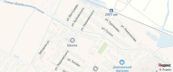 Переулок Сигизмунда Александровича Левоневского на карте Дагестанских огней с номерами домов