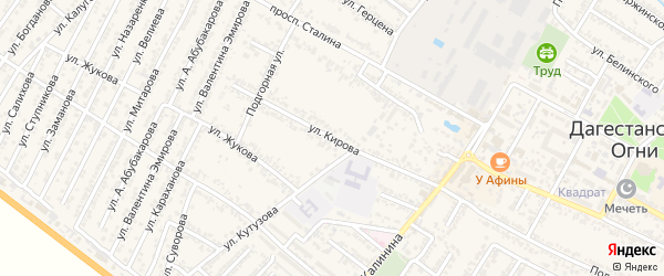 Переулок Сергея Мироновича Кирова на карте Дагестанских огней с номерами домов