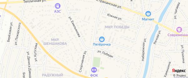 Улица Победы на карте села Началово с номерами домов