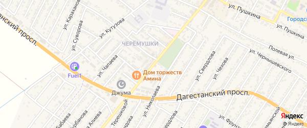 Проспект Михаила Ивановича Калинина на карте Дагестанских огней с номерами домов