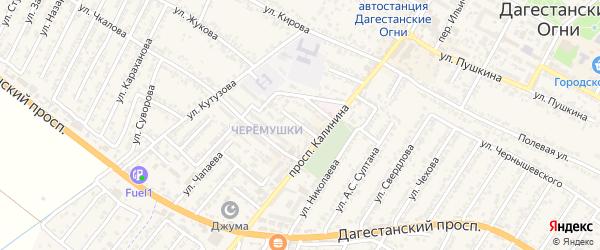 Улица Валерия Павловича Чкалова на карте Дагестанских огней с номерами домов