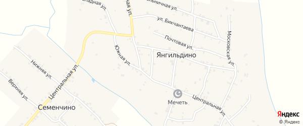 Верхняя улица на карте села Янгильдино с номерами домов