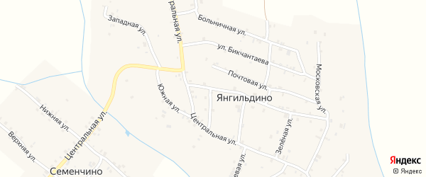 Улица М.Салихова на карте села Янгильдино с номерами домов