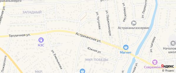 Астраханская улица на карте села Началово с номерами домов