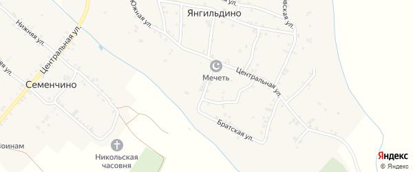 Ключевая улица на карте села Янгильдино с номерами домов