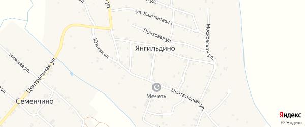 Средняя улица на карте села Янгильдино с номерами домов