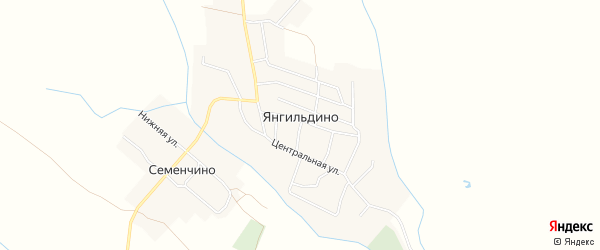 Карта села Янгильдино в Чувашии с улицами и номерами домов