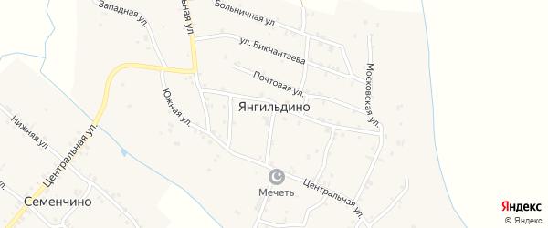 Восточная 1-я улица на карте села Янгильдино с номерами домов