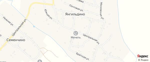 Центральная улица на карте села Янгильдино с номерами домов