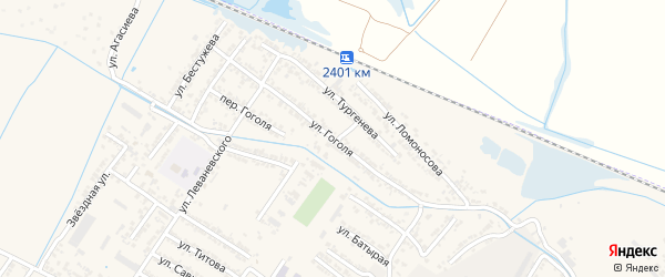 Переулок Николая Васильевича Гоголя на карте Дагестанских огней с номерами домов