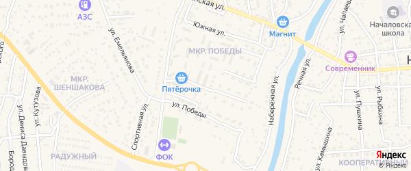 Улица Новостроя на карте села Началово с номерами домов