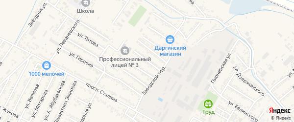 Улица Мира на карте Дагестанских огней с номерами домов