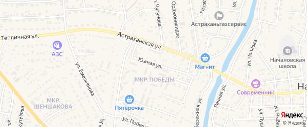 Осенняя улица на карте села Началово с номерами домов