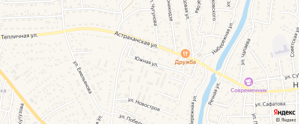 Студенческий переулок на карте села Началово с номерами домов