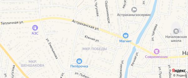 Прибрежный микрорайон на карте села Началово с номерами домов