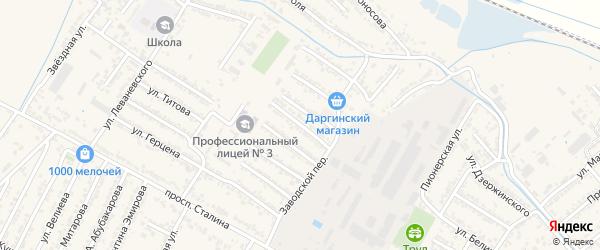 Улица 8 Марта на карте Дагестанских огней с номерами домов