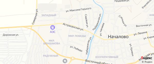 СТ сдт Садовод на карте села Началово с номерами домов
