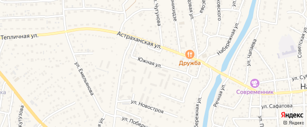 Микрорайон Победы на карте села Началово с номерами домов