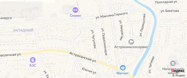 Улица Чугунова на карте села Началово с номерами домов