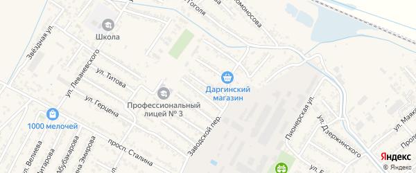 Переулок Асретова на карте Дагестанских огней с номерами домов