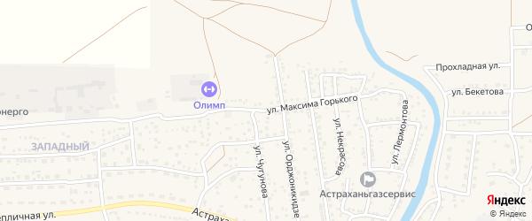 Улица Горького на карте села Началово с номерами домов