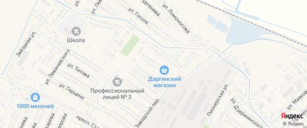 Батырая улица на карте Дагестанских огней с номерами домов