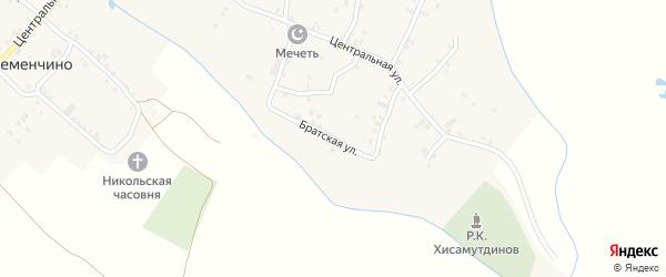 Братская улица на карте села Янгильдино с номерами домов