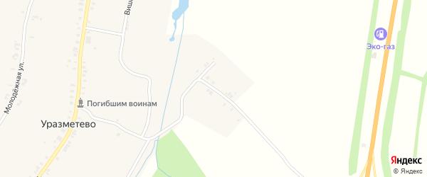 Нагорная улица на карте деревни Уразметево с номерами домов