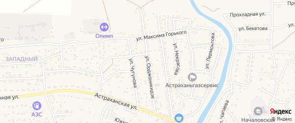 Улица Орджоникидзе на карте села Началово с номерами домов