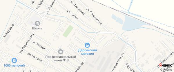 Каспийская улица на карте Дагестанских огней с номерами домов
