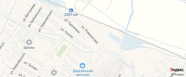 Улица Михаила Васильевича Ломоносова на карте Дагестанских огней с номерами домов