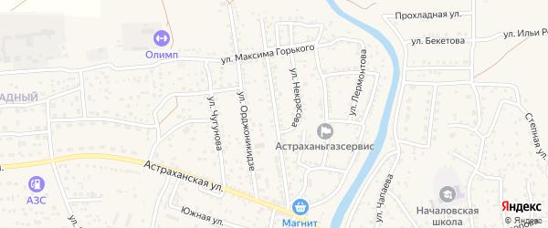Садовая улица на карте села Началово с номерами домов
