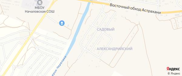 Садовый микрорайон на карте села Началово с номерами домов
