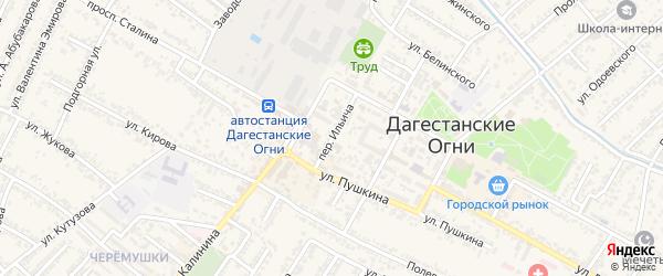 Переулок Анатолия Васильевича Луначарского на карте Дагестанских огней с номерами домов