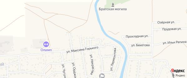Улица Тельмана на карте села Началово с номерами домов