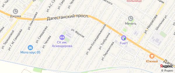 Улица 26 Бакинских Комиссаров на карте Дагестанских огней с номерами домов