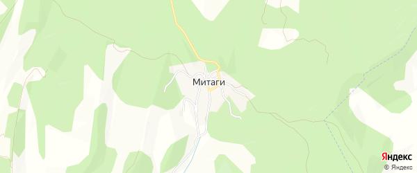 Карта села Митаги в Дагестане с улицами и номерами домов