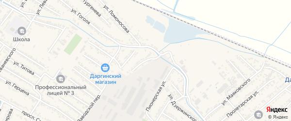 Улица Ворошилова на карте Дагестанских огней с номерами домов
