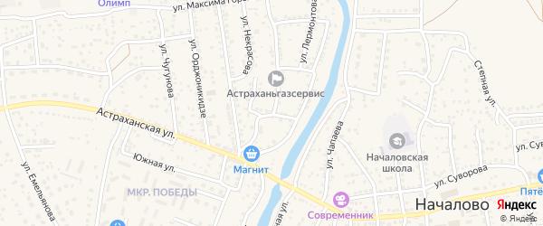 Проездной переулок на карте Астрахани с номерами домов