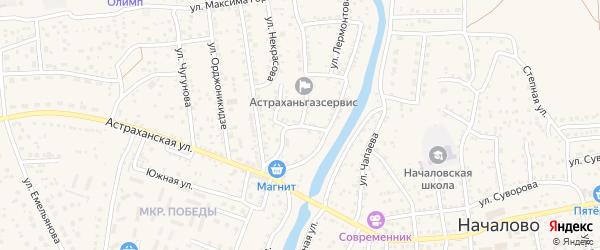 Проездной переулок на карте села Началово с номерами домов