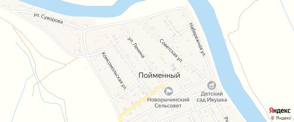 Улица Ленина на карте Пойменного поселка с номерами домов