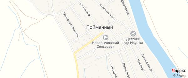 Улица Калинина на карте Пойменного поселка с номерами домов
