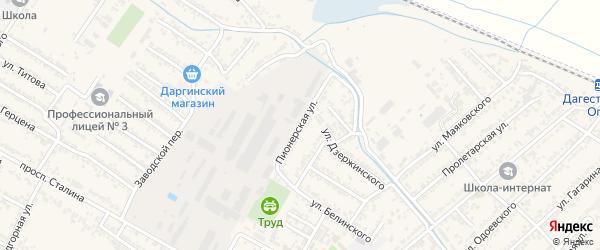 Пионерская улица на карте Дагестанских огней с номерами домов
