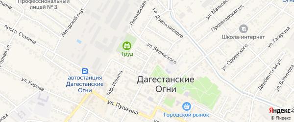 Улица Абаса Исрафилова на карте Дагестанских огней с номерами домов