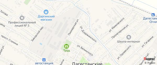 Улица Имама Шамиля на карте Дагестанских огней с номерами домов